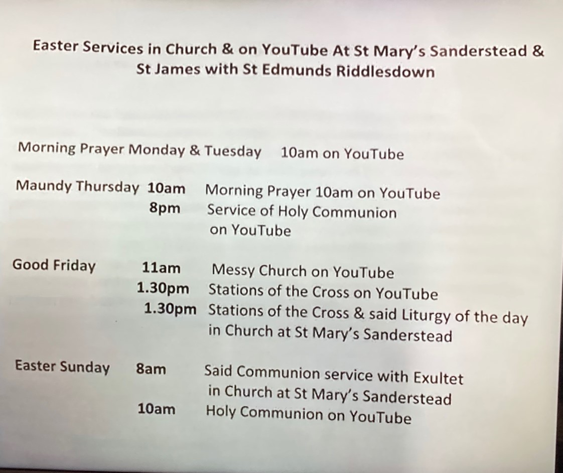 St Marys Easter Services 2021COVID version